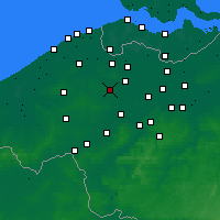 Nearby Forecast Locations - Aalter - Mapa