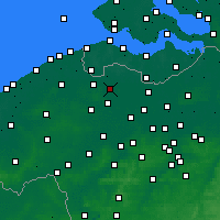 Nearby Forecast Locations - Eeklo - Mapa