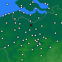 Nearby Forecast Locations - Wachtebeke - Mapa