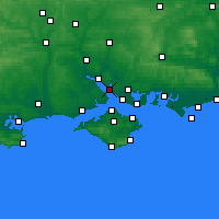 Nearby Forecast Locations - Hamble-le-Rice - Mapa