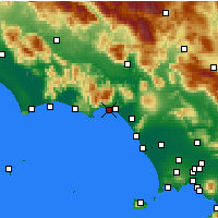 Nearby Forecast Locations - Formia - Mapa