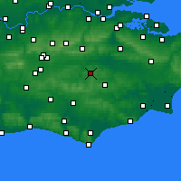 Nearby Forecast Locations - Royal Tunbridge Wells - Mapa