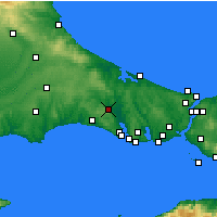 Nearby Forecast Locations - Çatalca - Mapa