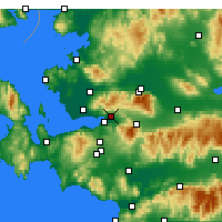 Nearby Forecast Locations - Bornova - Mapa