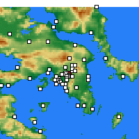 Nearby Forecast Locations - Marousi - Mapa