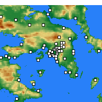 Nearby Forecast Locations - Korydallos - Mapa