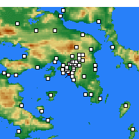 Nearby Forecast Locations - Palaio Faliro - Mapa