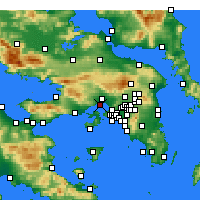 Nearby Forecast Locations - Eleusis - Mapa