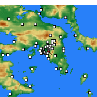 Nearby Forecast Locations - Kaisariani - Mapa