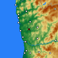 Nearby Forecast Locations - Vila Nova de Famalicão - Mapa