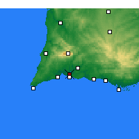 Nearby Forecast Locations - Portimão - Mapa