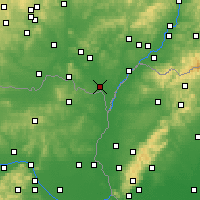 Nearby Forecast Locations - Břeclav - Mapa