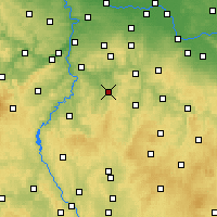 Nearby Forecast Locations - Benešov - Mapa