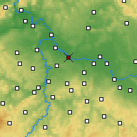 Nearby Forecast Locations - Brandýs nad Labem-Stará Boleslav - Mapa