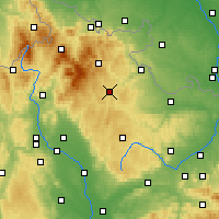 Nearby Forecast Locations - Bruntál - Mapa