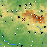 Nearby Forecast Locations - Jablonec nad Nisou - Mapa