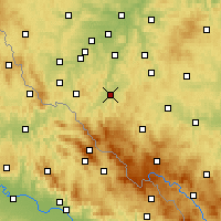Nearby Forecast Locations - Klatovy - Mapa