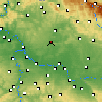 Nearby Forecast Locations - Mladá Boleslav - Mapa