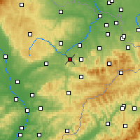 Nearby Forecast Locations - Nový Jičín - Mapa