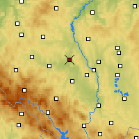 Nearby Forecast Locations - Písek - Mapa