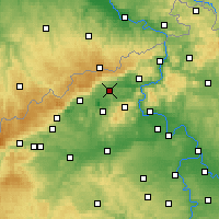 Nearby Forecast Locations - Teplice - Mapa