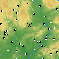 Nearby Forecast Locations - Vyškov - Mapa