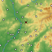 Nearby Forecast Locations - Zlín - Mapa