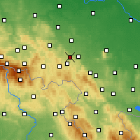 Nearby Forecast Locations - Świebodzice - Mapa