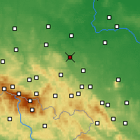Nearby Forecast Locations - Jawor - Mapa