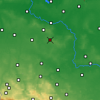 Nearby Forecast Locations - Polkowice - Mapa