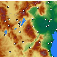Nearby Forecast Locations - Vermio - Seli - Mapa