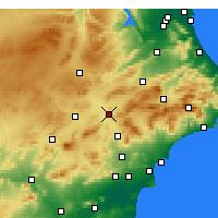 Nearby Forecast Locations - Villena - Mapa