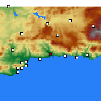 Nearby Forecast Locations - Vélez-Málaga - Mapa