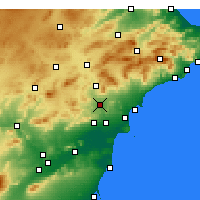 Nearby Forecast Locations - Novelda - Mapa