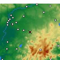 Nearby Forecast Locations - Morón de la Frontera - Mapa