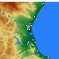 Nearby Forecast Locations - Catarroja - Mapa