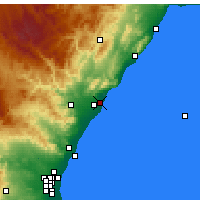 Nearby Forecast Locations - Benicasim - Mapa