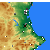 Nearby Forecast Locations - Carcaixent - Mapa