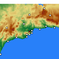 Nearby Forecast Locations - Alhaurín de la Torre - Mapa