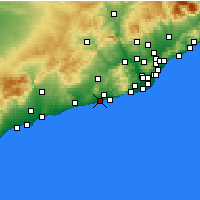 Nearby Forecast Locations - Vilanova i la Geltrú - Mapa