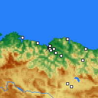 Nearby Forecast Locations - Santurtzi - Mapa