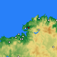 Nearby Forecast Locations - Narón - Mapa