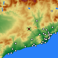 Nearby Forecast Locations - Igualada - Mapa