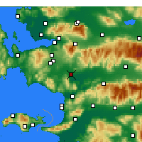 Nearby Forecast Locations - Torbalı - Mapa