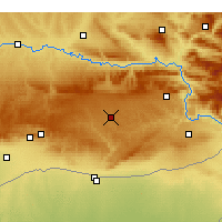 Nearby Forecast Locations - Midyat - Mapa