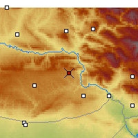 Nearby Forecast Locations - Dargeçit - Mapa