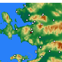 Nearby Forecast Locations - Menderes - Mapa