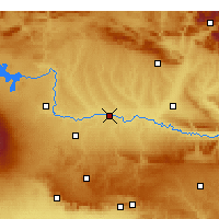 Nearby Forecast Locations - Bismil - Mapa