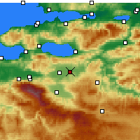 Nearby Forecast Locations - Yenişehir - Mapa