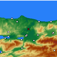 Nearby Forecast Locations - Ferizli - Mapa